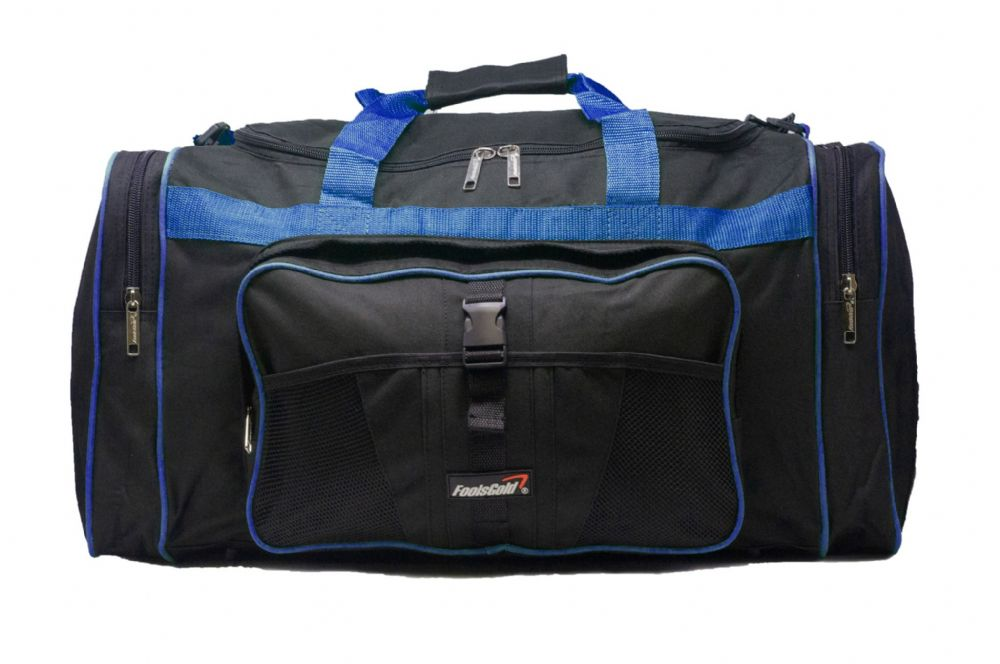 Large 50L foolsGold® Sports Holdall Bag - Black/Royal Blue